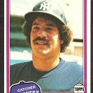 New York Yankees Rick Cerone 1981 Topps Baseball Card # 335 nr mt