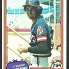 Cleveland Indians Sid Monge 1981 Topps Baseball Card # 333 nr mt