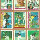 1983 Topps Oakland Athletics Team Lot 26 Rickey Henderson Tony Armas Joe Rudi Billy Martin