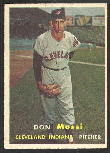CLEVELAND INDIANS DON MOSSI 1957 TOPPS # 8 EX MT