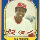 CINCINNATI REDS DAN DRIESSEN 1981 FLEER STAR STICKER CARD # 22