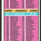 1976 Topps Baseball Card Checklist # 392 good unmarked