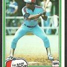 Montreal Expos Warren Cromartie 1981 Topps Baseball Card # 345 nr mt