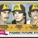 San Diego Padres Future Stars Stablein Stimac Tom Tellmann 1981 Topps Baseball Card # 356 nr mt