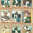 1983 Topps San Francisco Giants Team Lot 27 Joe Morgan Frank Robinson Jack Clark Darrell Evans