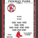 Boston Red Sox Tim Wakefield Knuckleball Grip photo on 2006 Voided Season Ticket