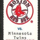 Minnesota Twins Boston Red Sox 1994 Fenway Park Unused Ticket