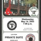 2003 Texas Rangers Boston Red Sox Private Suite Ticket Nomar Garciaparra hr David Ortiz 2 Hits