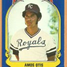 Kansas City Royals Amos Otis 1981 Fleer Star Sticker Baseball Card # 28