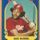 Philadelphia phillies Bake McBride 1981 Fleer Star Sticker Baseball Card # 31