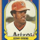 Houston Astros Cesar Cedeno 1981 Fleer Star Sticker Baseball Card # 35