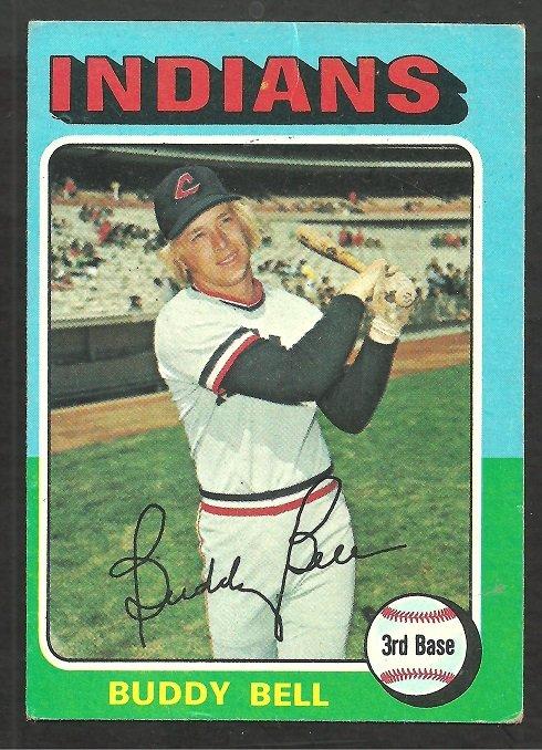 Cleveland Indians Buddy Bell 1975 Topps Baseball Card # 38 vg