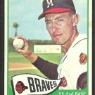 Milwaukee Braves Dennis Menke 1965 Topps Baseball Card # 327 vg/ex