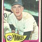 New York Yankees Steve Hamilton 1965 Topps Baseball Card # 309 fair/good