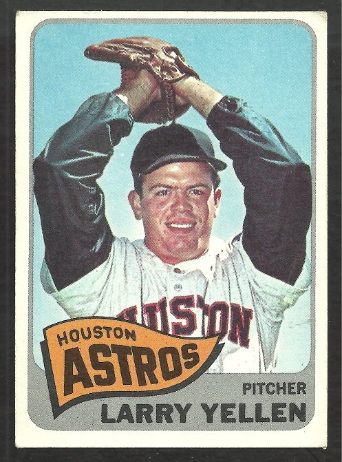 Houston Astros Larry Yeller 1965 Topps Baseball Card # 292 ex