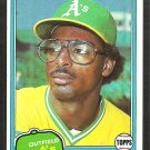 Oakland Athletics Mike Davis RC Rookie Card 1981 Topps Baseball Card # 364 nr mt