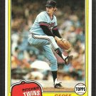 Minnesota Twins Geoff Zahn 1981 Topps Baseball Card # 363 nr mt