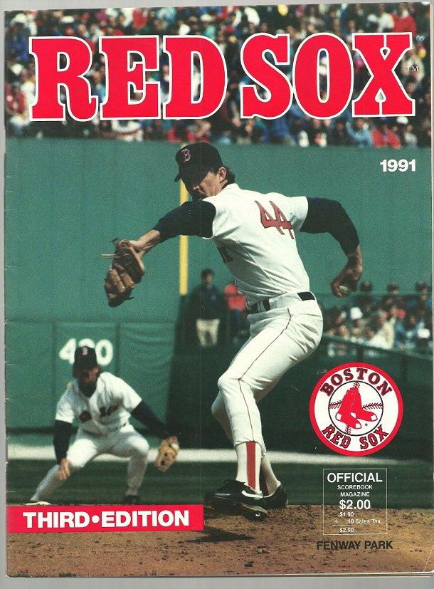 TORONTO BLUE JAYS @ BOSTON RED SOX 1991 FENWAY PARK PROGRAM W/ TED WILLIAMS