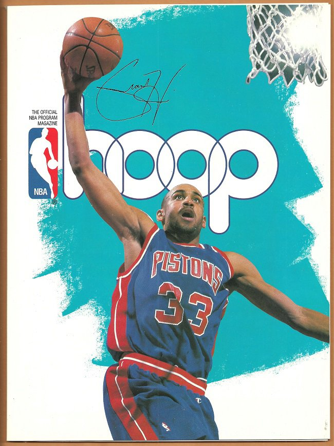 1995 Hoop Official NBA Program Detroit Pistons Grant Hill Boston Celtics Arena Edition