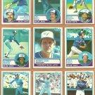 1983 Topps Toronto Blue Jays Team Lot 19 Ernie Whitt Bobby Cox Willie Upshaw Alfredo Griffin
