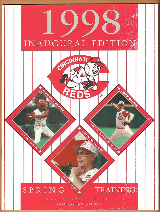1998 Cincinnati Reds Spring Training Program