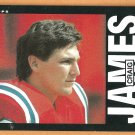 New England Patriots Craig James RC Rookie Card 1985 Topps Football Card # 328 nr mt