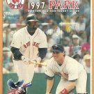 Boston Red Sox 1997 Ticket Brochure Fenway Park Envelope Mo Vaughn Tim Naehring