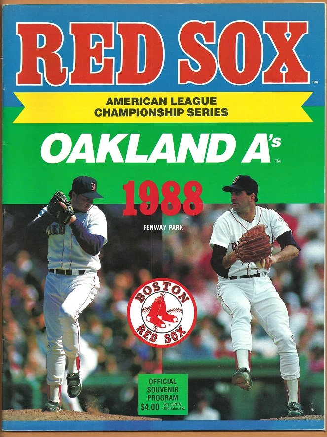 Boston Red Sox 1988 ALCS Program Championship Series Roger Clemens Bruce Hurst
