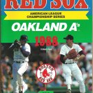 Boston Red Sox 1988 ALCS Program Championship Series Roger Clemens Bruce Hurst