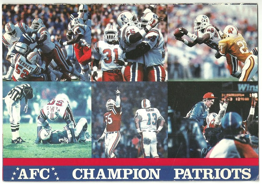 New England Patriots 1986 Ticket Brochure AFC Champs Sullivan Stadium Envelope