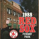 Boston Red Sox 1988 Fenway Park Program vs Detroit Tigers Ted Williams Ellis Burks Mike Greenwell