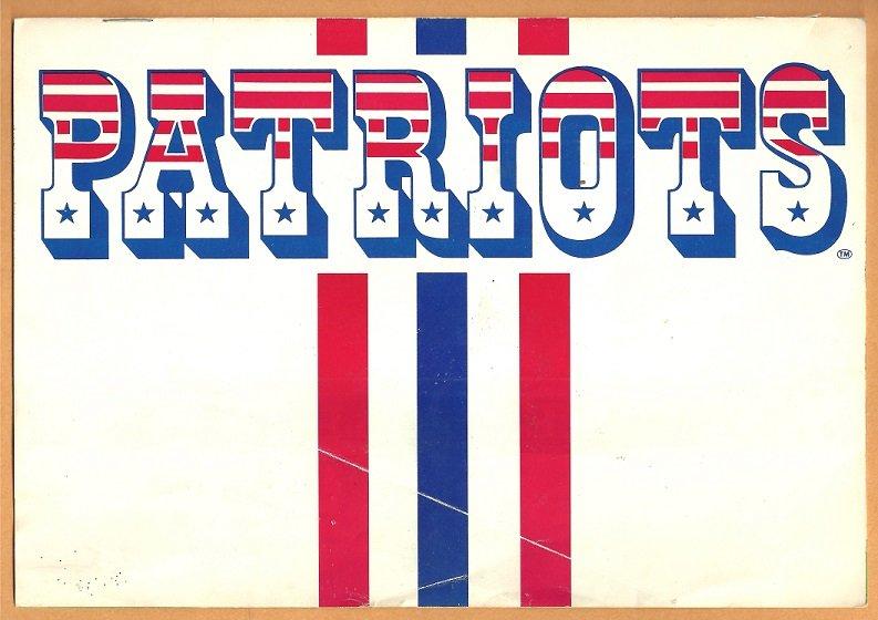 1985 New England Patriots Ticket Brochure Sullivan Stadium Envelope Super Bowl Season