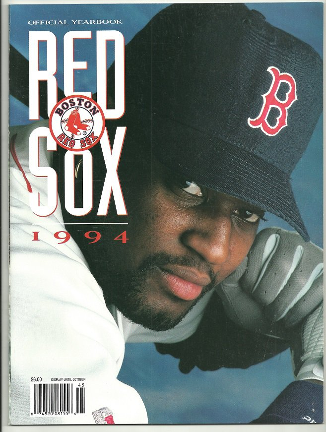 1994 Boston Red Sox Yearbook Mo Vaughn Cover Photo