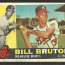 Milwaukee Braves Bill Bruton 1960 Topps Baseball Card # 37