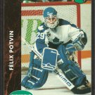 Toronto Maple Leafs Felix Potvin 1991 parkhurst hockey card # 398