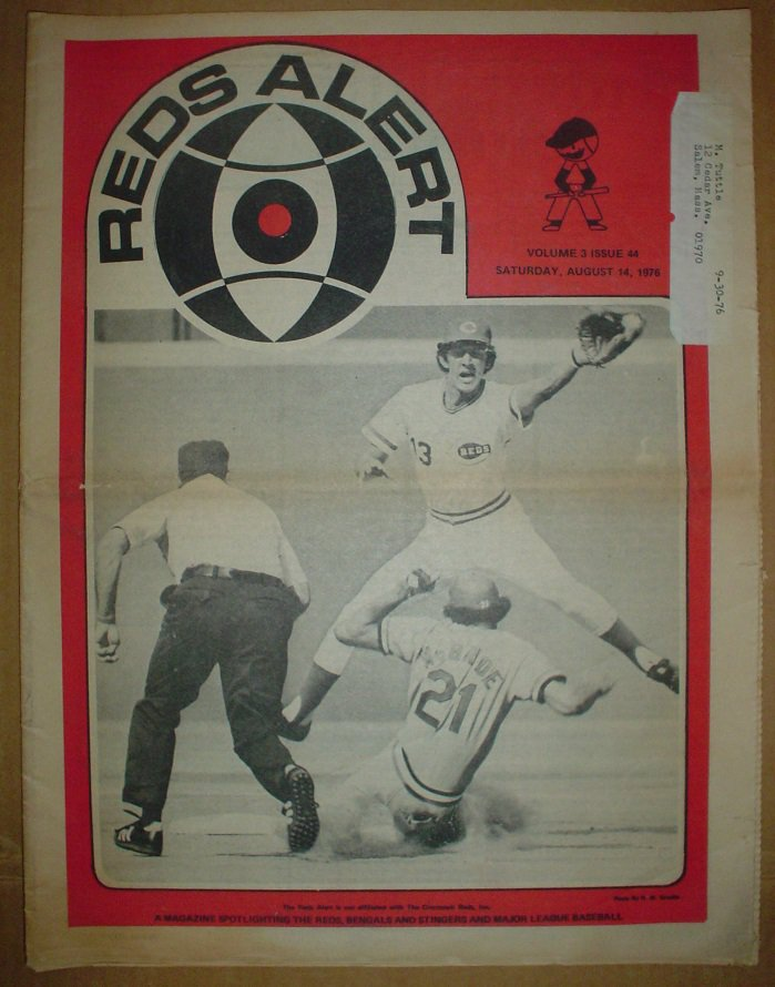 1976 Cincinnati Reds Alert Newspaper Johnny Bench Joe Morgan Tony Perez Pete Rose