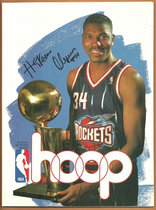 1995 Hoop Official NBA Program Houston Rockets Hakeem Olajuwon Boston Celtics Arena Edition