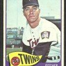 Minnesota Twins Jerry Fosnow 1965 Topps Baseball Card # 529 vg/ex short print sp