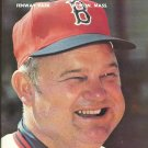 Boston Red Sox 1978 Fenway Park Program vs Oakland Athletics Don Zimmer Team Photo