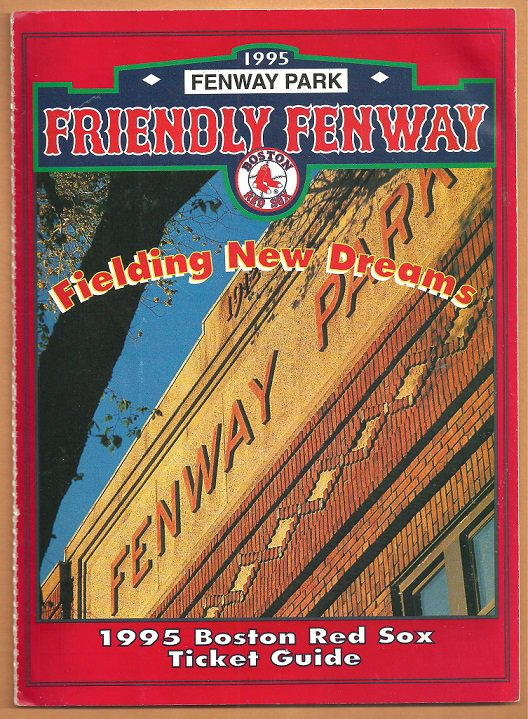 1995 Boston Red Sox Ticket Brochure with Fenway Park Logo Envelope