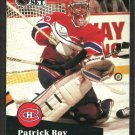 Montreal Canadiens Patrick Roy 1991 Pro Set Hockey Card # 125