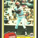 Minnesota Twins Dave Edwards 1981 Topps Baseball Card # 386 nr mt