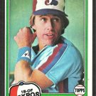 Montreal Expos Tom Hutton 1981 Topps Baseball Card # 374 nr mt