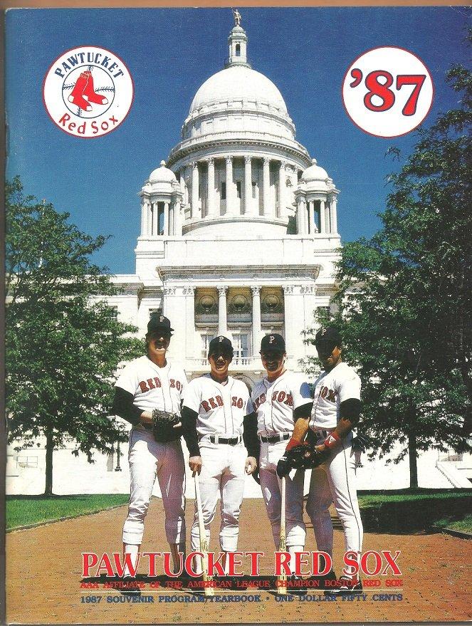 1987 Pawtucket Red Sox Yearbook Program Ellis Burks