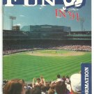 1991 Boston Red Sox Ticket Brochure Roger Clemens Wade Boggs Fenway Park Mailing Envelope