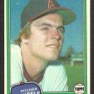 California Angels Frank Tanana 1981 Topps Baseball Card # 369 ex