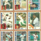 1983 1984 Topps Boston Red Sox Team Lot Wade Boggs Jim Rice Dennis Eckersley Dwight Evans Tony Perez