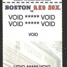 1997 Boston Red Sox Voided Ticket