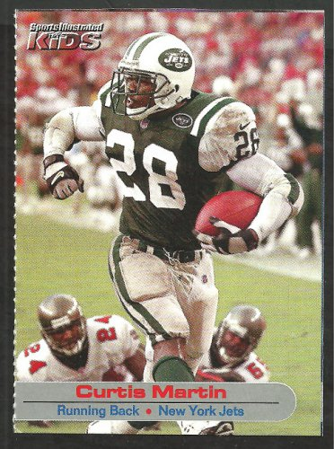 New York Jets Curtis Martin 2002 Sports Illustrated For Kids Football Card # 133