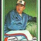 Montreal Expos Woody Fryman 1981 Topps Baseball Card # 394 nr mt